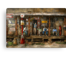 Gas Station - Sunday afternoon - 1939 Canvas Print