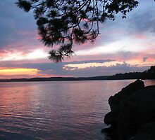 Sunset Dreams at  Lake CatchaComa 3-Available As Art Prints-Mugs,Cases,Duvets,T Shirts,Stickers,etc by Robert Burns
