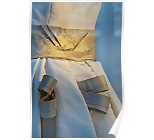 Ribboned Gown - Blue and Gold Poster