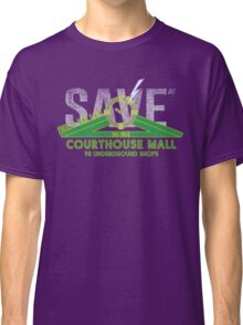 SAVE at the Hill Valley Courthouse Mall Classic T-Shirt