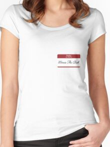 Hello my name is... Winnie the Bish Women's Fitted Scoop T-Shirt