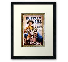 Antique Buffalo Bill Poster Framed Print
