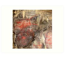 Pictograph in Picture Gorge Art Print