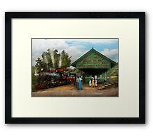 Train - Haines Corners - Catskill Mountains - NY - Waiting for departure - 1902 Framed Print