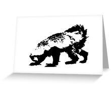 Honey Badger (black) Greeting Card