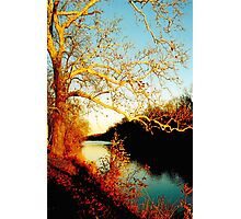 Fall at the River Photographic Print