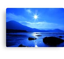 Beach In Blue Canvas Print