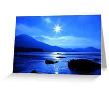 Beach In Blue Greeting Card