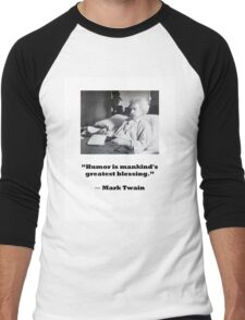 Mark Twain Men's Baseball ¾ T-Shirt