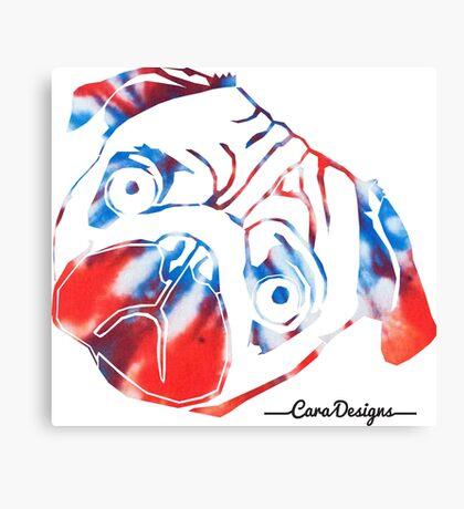 Tie dye pug face Canvas Print