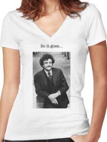 Kurt Vonnegut Women's Fitted V-Neck T-Shirt