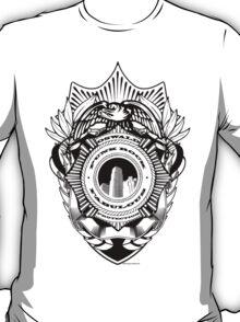 Oswald Fuzz Badge Black T-Shirt