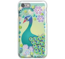 Peacock Retro Design – Naïve Style Bird Series iPhone Case/Skin