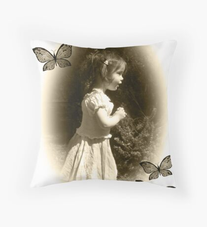 Beauty back in time... Throw Pillow