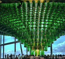 One Thousand Green Bottles Hanging from the Roof. by Larry Lingard-Davis