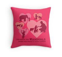 Love Animals - Land Animal Career Throw Pillow