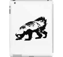 Honey Badger (black) iPad Case/Skin
