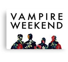 Vampire Weekend Silhouettes  Canvas Print
