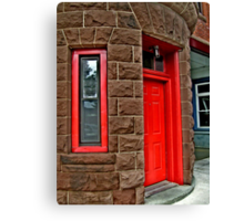 Entry to the Upper Montclair Fire Department Canvas Print