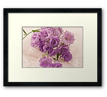 Lavender And Lace  Framed Print