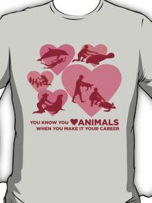 Love Animals - Marine Animal Career T-Shirt