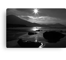 Setting Sun Star Canvas Print