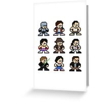 8-bit 80s Action Movies Greeting Card