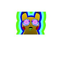 Trippy Pikachu Photographic Print