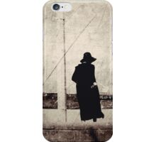 black day bay (a random lady wearing black socks and black everything at the beach) iPhone Case/Skin