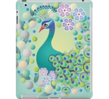 Peacock Retro Design – Naïve Style Bird Series iPad Case/Skin