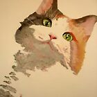 I&#x27;m All Ears: Calico Cat Portrait by taiche