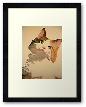 I'm All Ears: Calico Cat Portrait by taiche