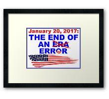 End of an error sticker Framed Print
