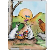 Easter Basket Vintage Illustration iPad Case/Skin