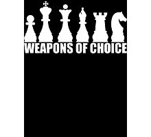 Chess - Weapons of Choice T Shirt Photographic Print