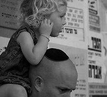 On daddies shoulders in Mea Shearim by MichaelBr