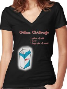 Gallon Challenge Women's Fitted V-Neck T-Shirt