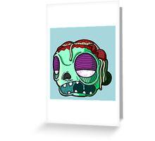 Carnihell #9 spaghetti brains zombie Greeting Card