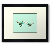Little Songbird in Mint Framed Print