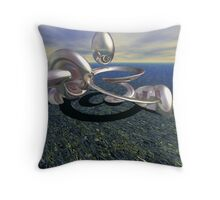 stainless shape Throw Pillow