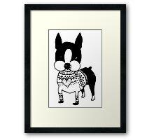 Sweater Dog Framed Print