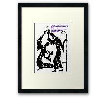 Mary, Jesus, Joseph - Ink Drawing Framed Print