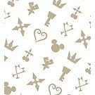 Golden Kingdom Hearts Symbols by takandre