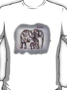 Mom Elephant  T-Shirt