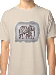 Mom Elephant  Classic T-Shirt