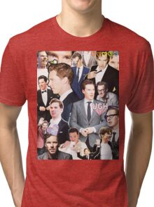 benedict cumberbatch collage Tri-blend T-Shirt