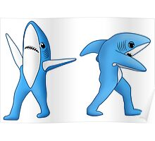 Super Bowl Sharks Poster