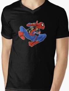 Aloha Spider-Man Mens V-Neck T-Shirt