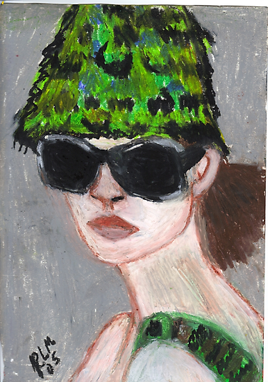 Woman Wearing Summer Hat(& Shades) by RobynLee