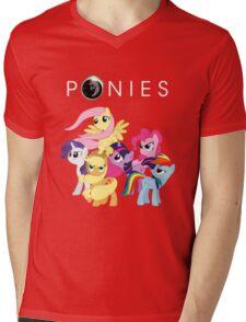 Ponies Mens V-Neck T-Shirt